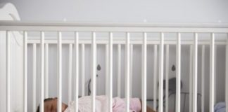 baby to sleep in a crib