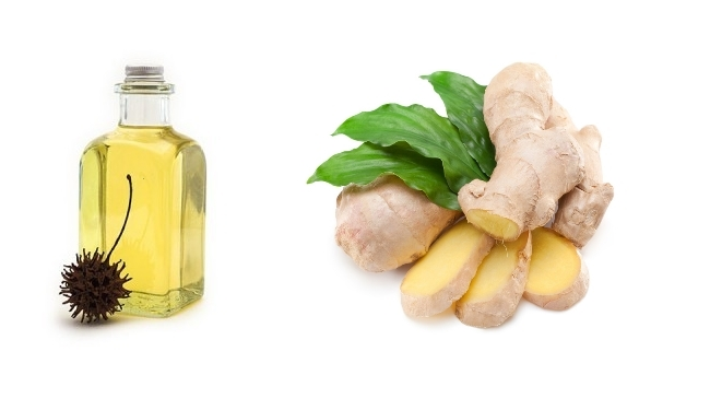 Castor oil for dandreuff