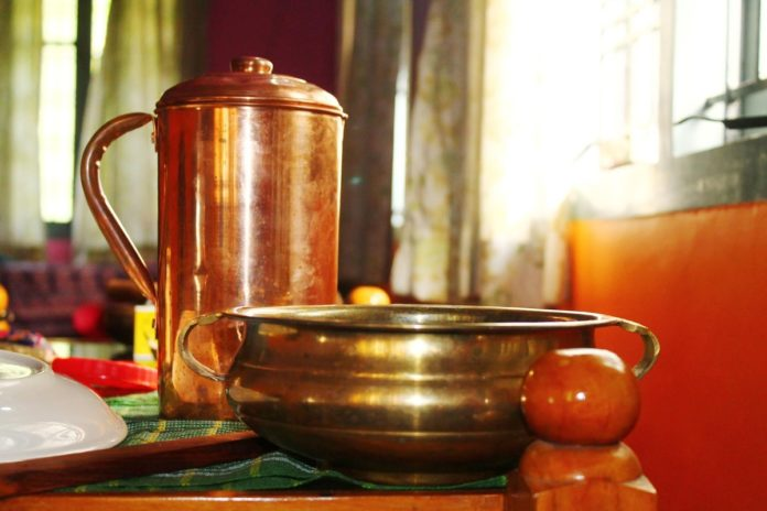 Benefits of drinking water stored in copper vessel